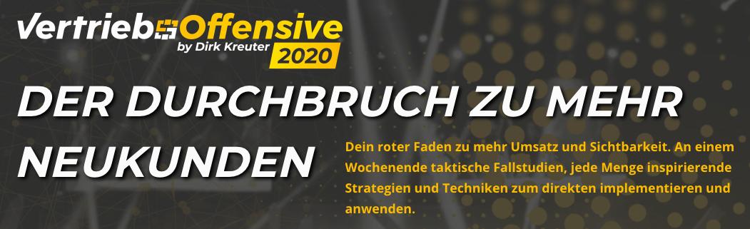 Dirk Kreuter Vertriebsoffensive 2020 erfahrungen