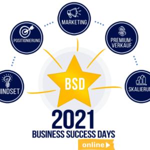 Business Success Days 2021 - Das beliebte Event für Experten Tickets