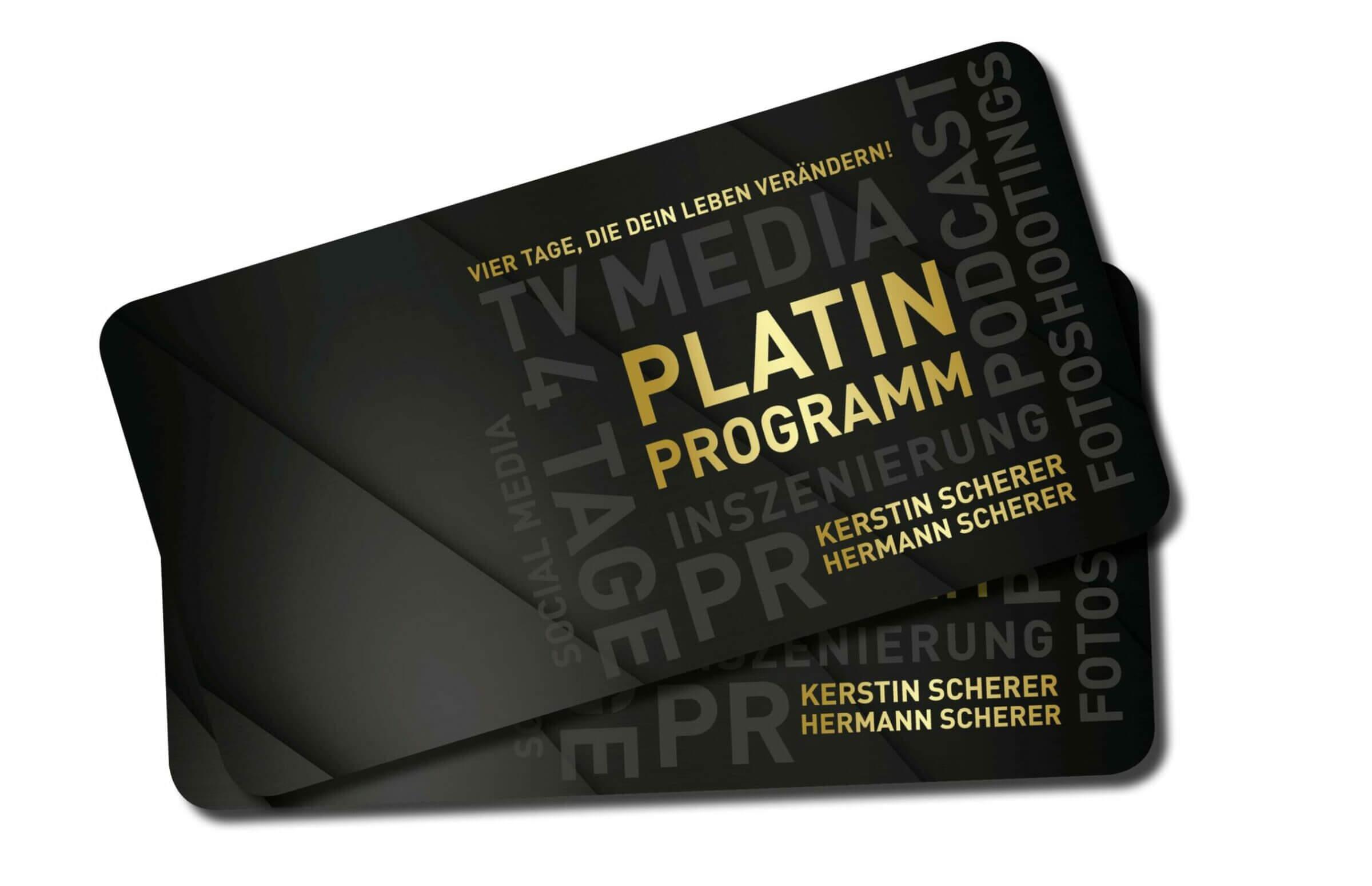 Hermann Scherer Platin - Programm