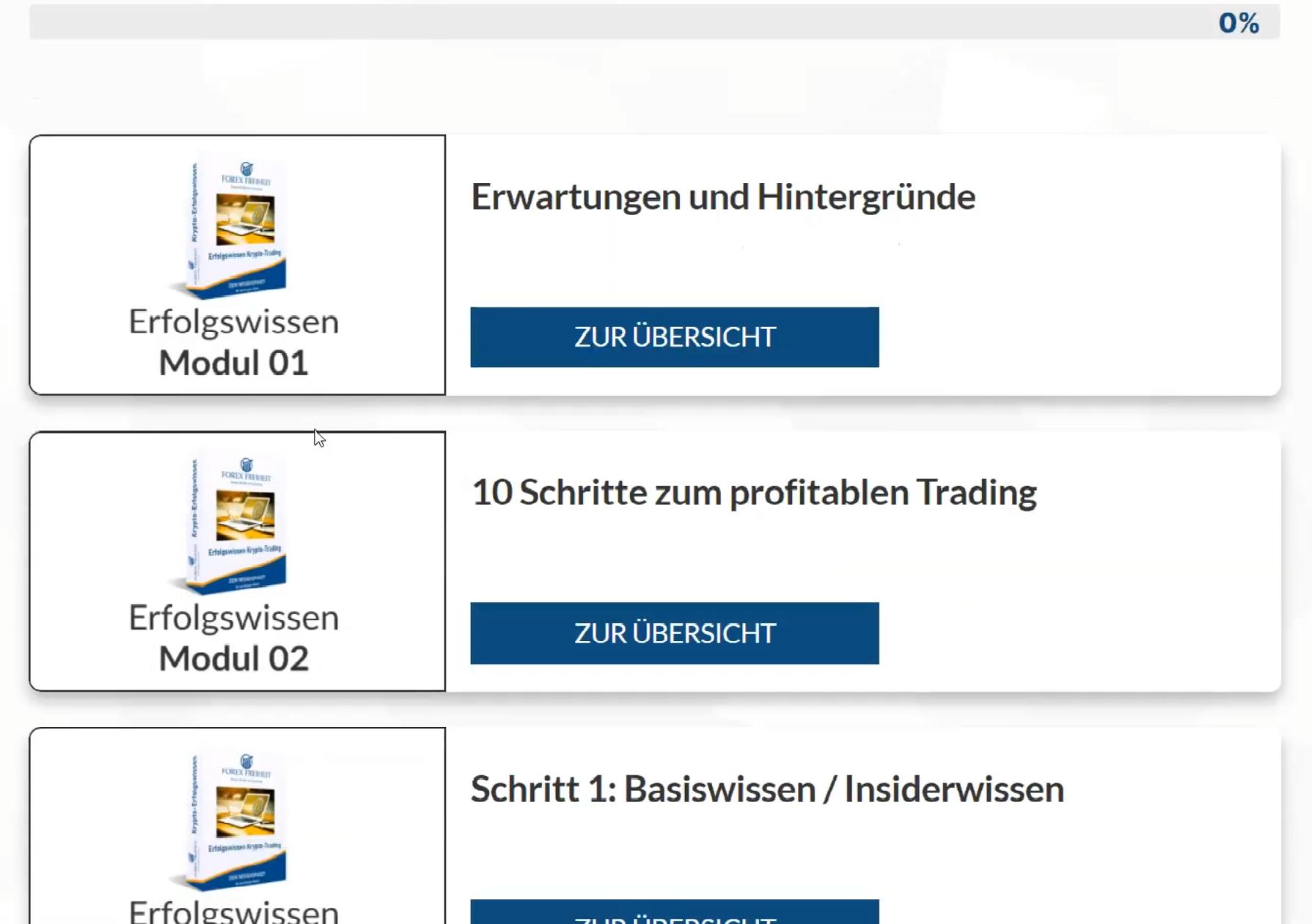 Krypto Trading Akademie Master von Jürgen Wechsler Erfahrungen