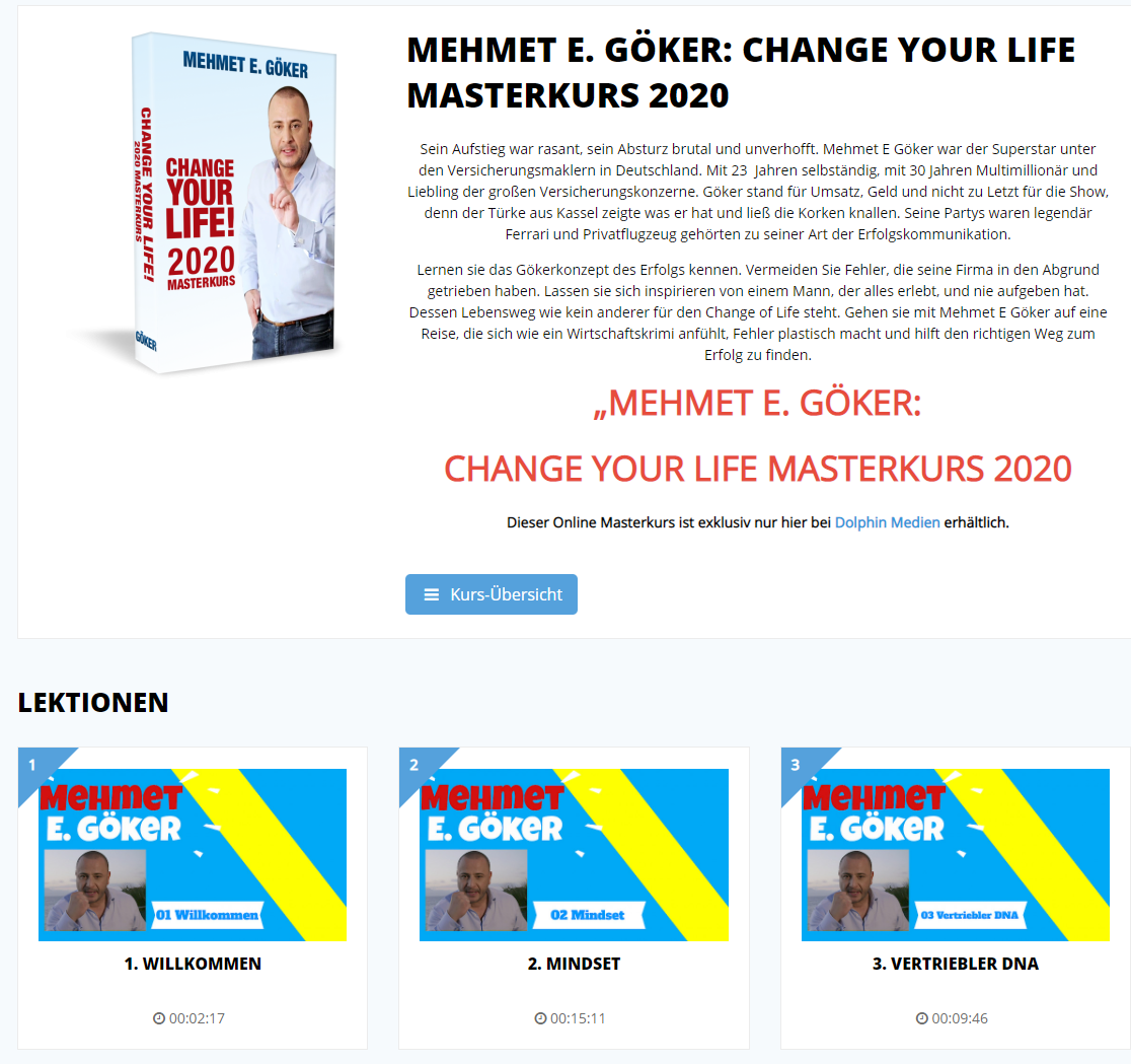 Change Your Life Masterkurs von Mehmet Göker