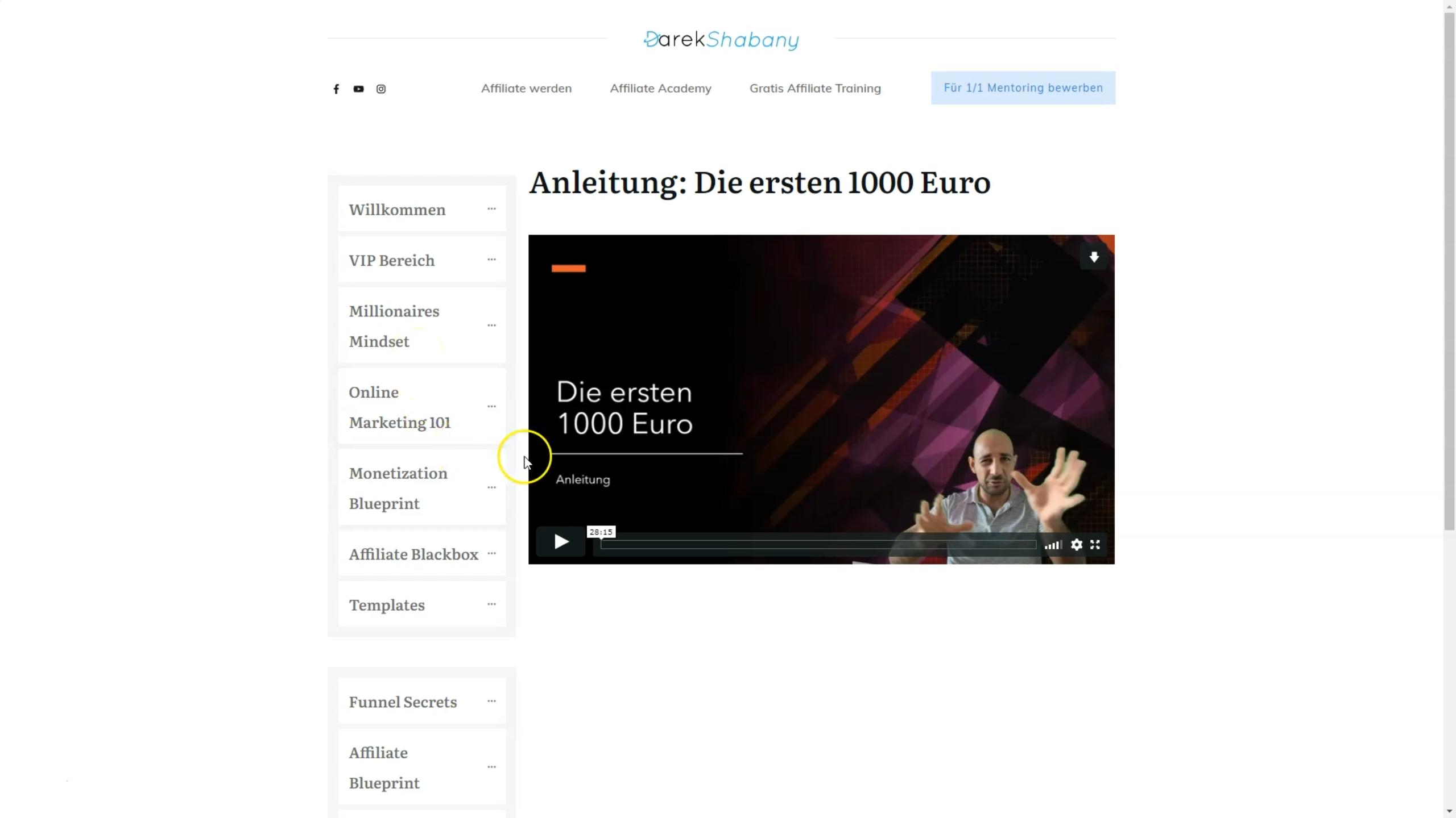 affiliate masterclas von darek shabany erfahrungen